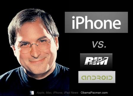 Steve Jobs Apple iPhone vs. RIM Android