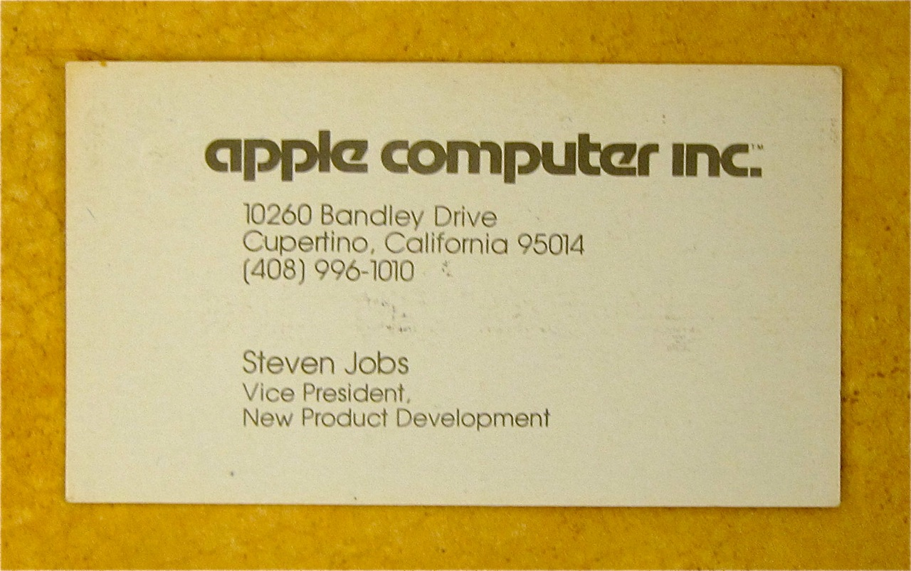 Steve jobs apple vp business card circa 1979 obama pacman steve jobs business card apple computers circa 1979 colourmoves