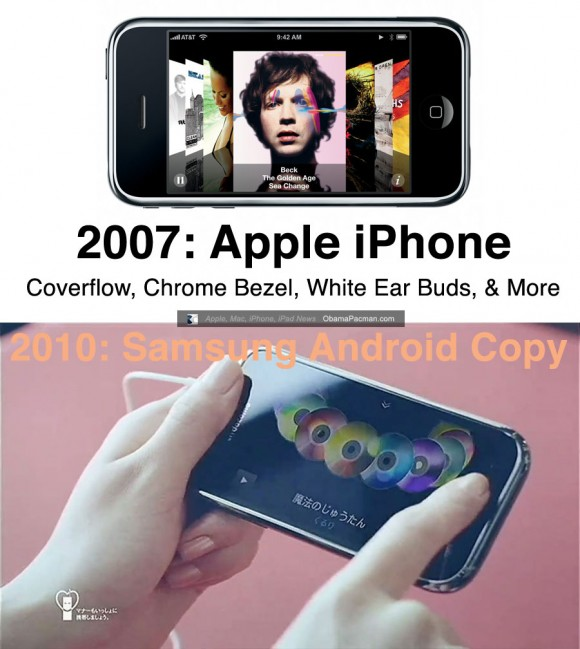 2007 Apple iPhone vs. 2010 Android Samsung Galaxy S