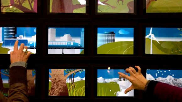 25 iPad Interactive Wall, Japanese Video Art