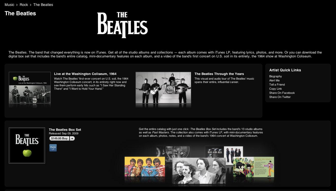 Beatles Makes Worldwide Digital Distribution Debut on iTunes