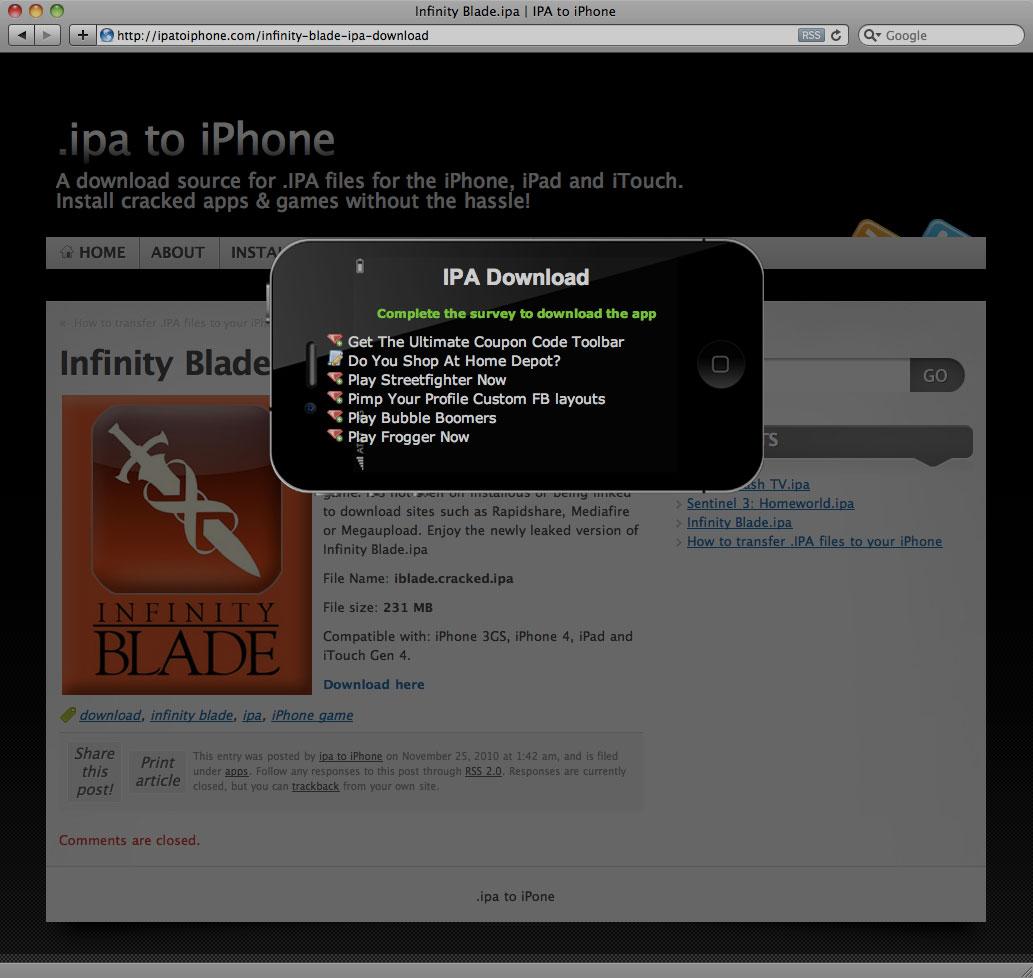 Download Infinity Blade iPhone & iPad IPA  Real or Fake