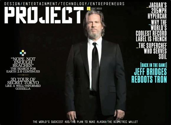 Jeff Bridges, iPad Magazine Project Mag Cover Tron 2.0