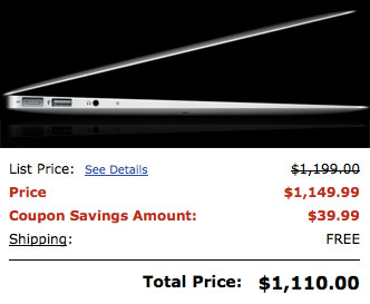 MacBook Air 11-Inch Sale