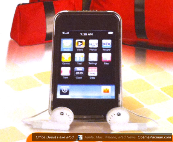 Office Depot fake iPod touch 4