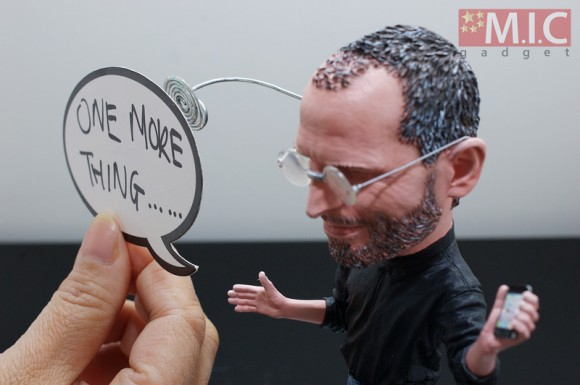 One More Thing, Steve Jobs Action Figure, speech bubble