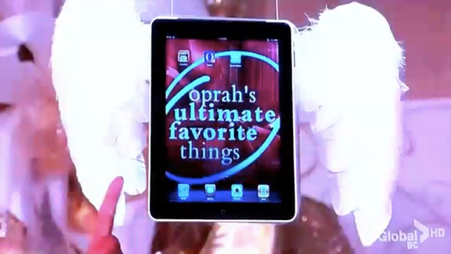 Oprah My Ultimate Favorite Things 2010 Apple Ipad Obama