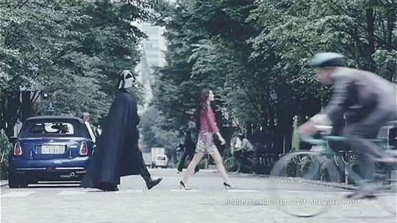 Samsung Galaxy Ad, Android is Evil Darth Vader Stalker