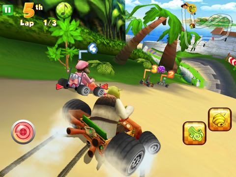 Shrek Kart HD iPad racing game