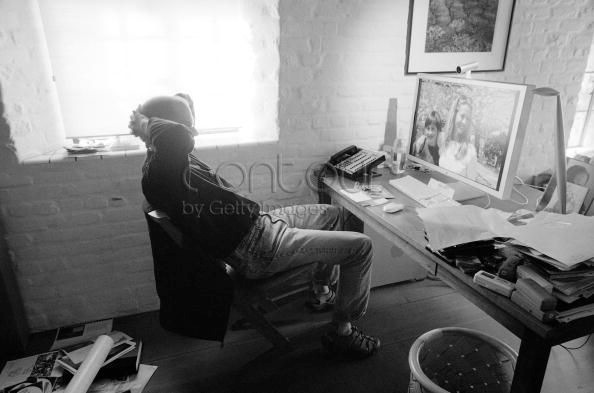 Steve Jobs Apple CEO Home Office 2004, Wife Laurene Powell Photo