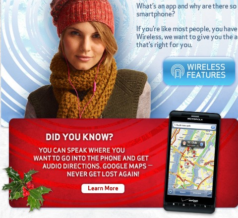 Verizon Droid Cyber Monday iPhone 4