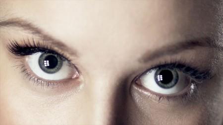 model eyes, iPad fashion shoot