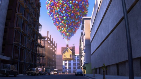 Pixar Up Flying House Balloons