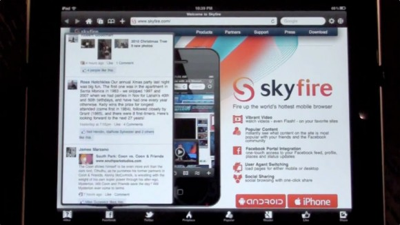 SkyFire Flash Video Web Browser iPad iPhone