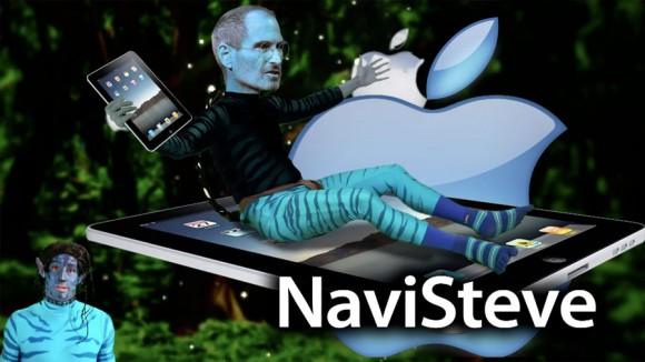 Steve Jobs Navi iPad, Avatar Spoof