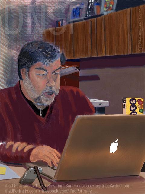 Steve Wozniak iPad Portrait David Newman
