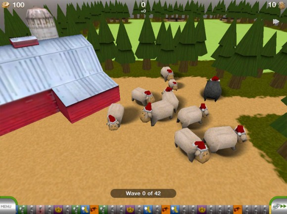 Tower Madness iPad iPhone Christmas sheep