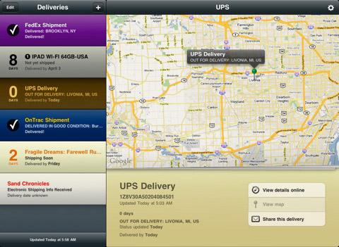 Track Package iPad app