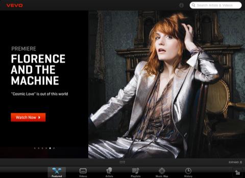 Vevo HD iPad music videos app
