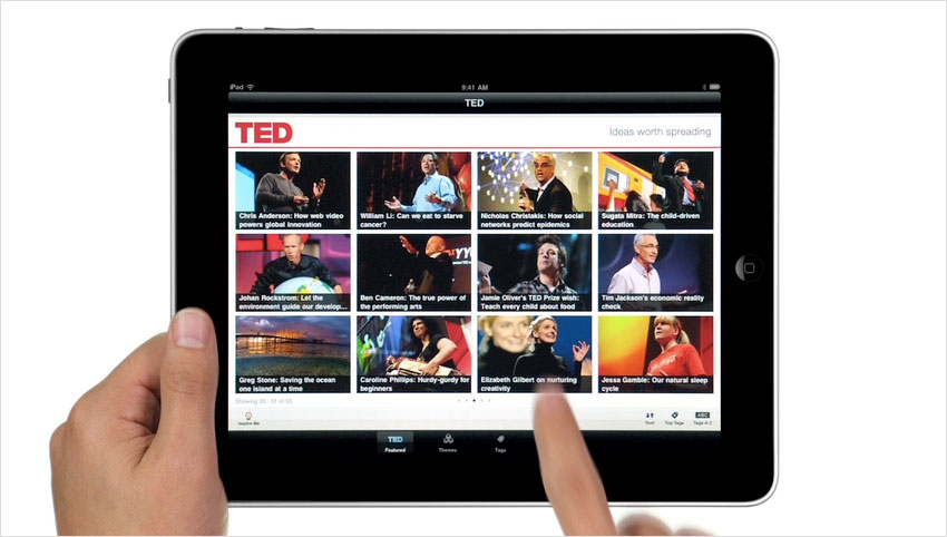 "Ipad App Ideas Ipad Ted ""Ideas Worth Sharing"" App  Obama Pacman"