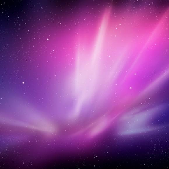iPad wallpaper snow leopard starry sky