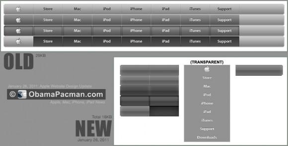 Apple Navigation Menu Design update 2011 January 26