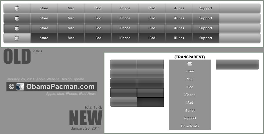 Apple Navigation Menu Design update 2011 January 26   Obama