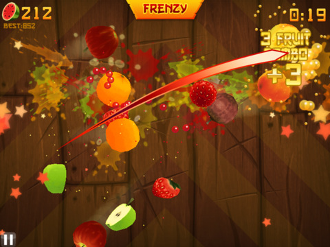 Real life iphone fruit ninja game video obama pacman
