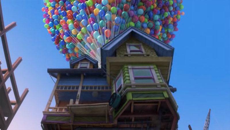 Pixar Up Balloons House Flight | Obama Pacman