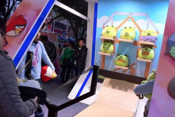 Real Life iPhone Angry Birds Arcade Game
