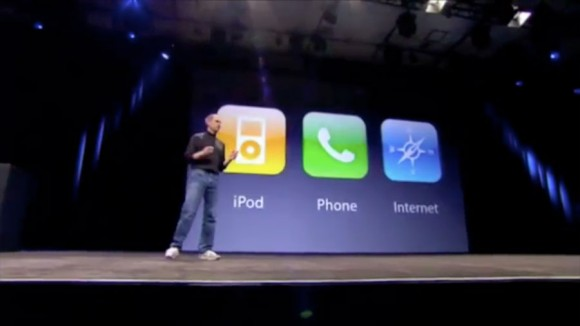Steve Jobs 2007 iPhone, iPod, phone, internet communicator