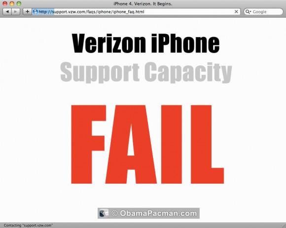 Verizon iPhone 4 Support FAIL