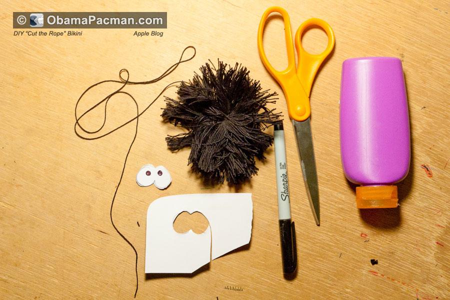 Make The Cut >> Cut the Rope, DIY Fuzzy Ticklish Spider, Step 1 | Obama Pacman
