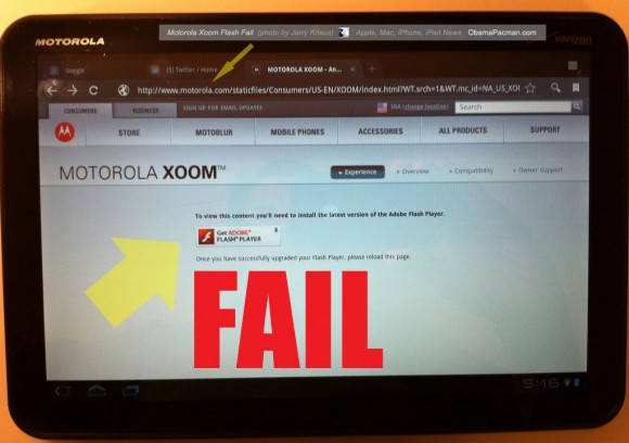 FLASH FAIL, Xoom Android Honeycomb Tablet