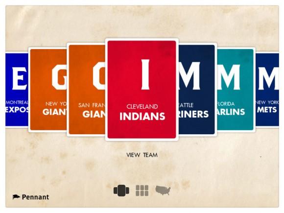 Pennant iPad Baseball History App