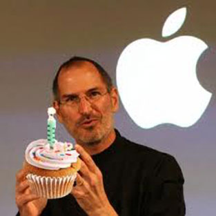 Steve Jobs Birthday Cupcake