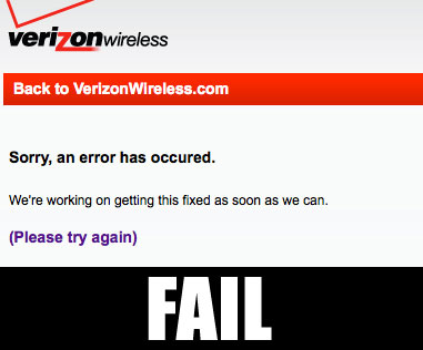 Verizons iPhone 4 pre-order site is crashing