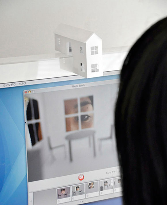 iMac iHouse, Tiny Papercraft Webcam House