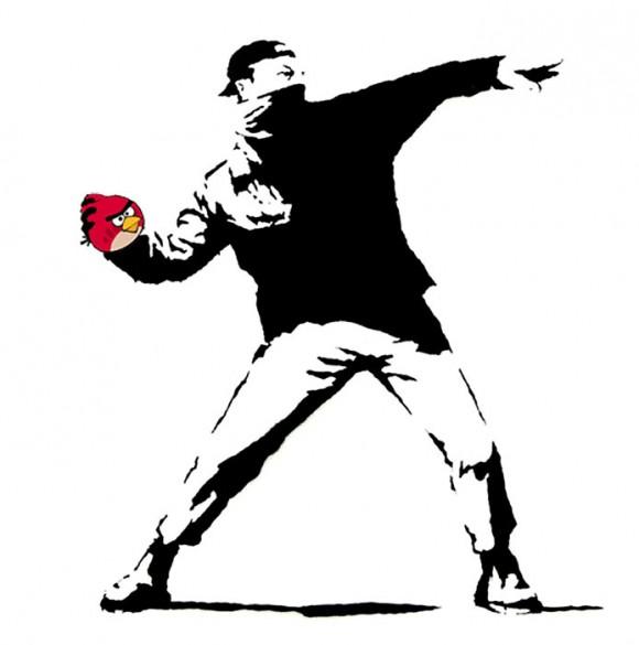 Banksy Angry Birds Graffiti