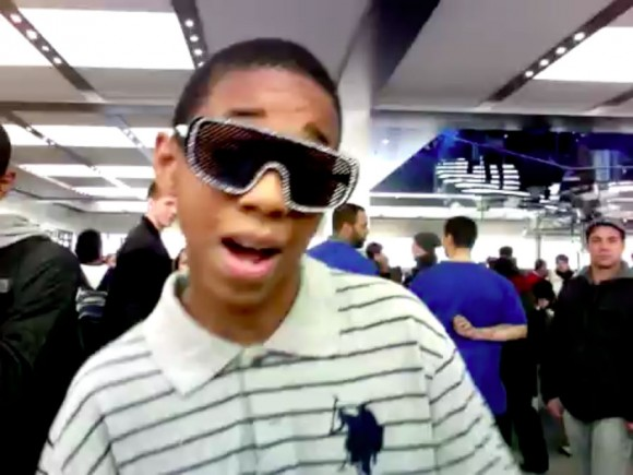 Lip Sync Kid, NYC Apple Store