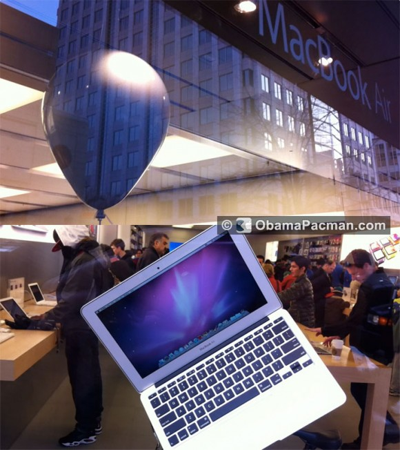 MacBook Air Balloon Apple Store