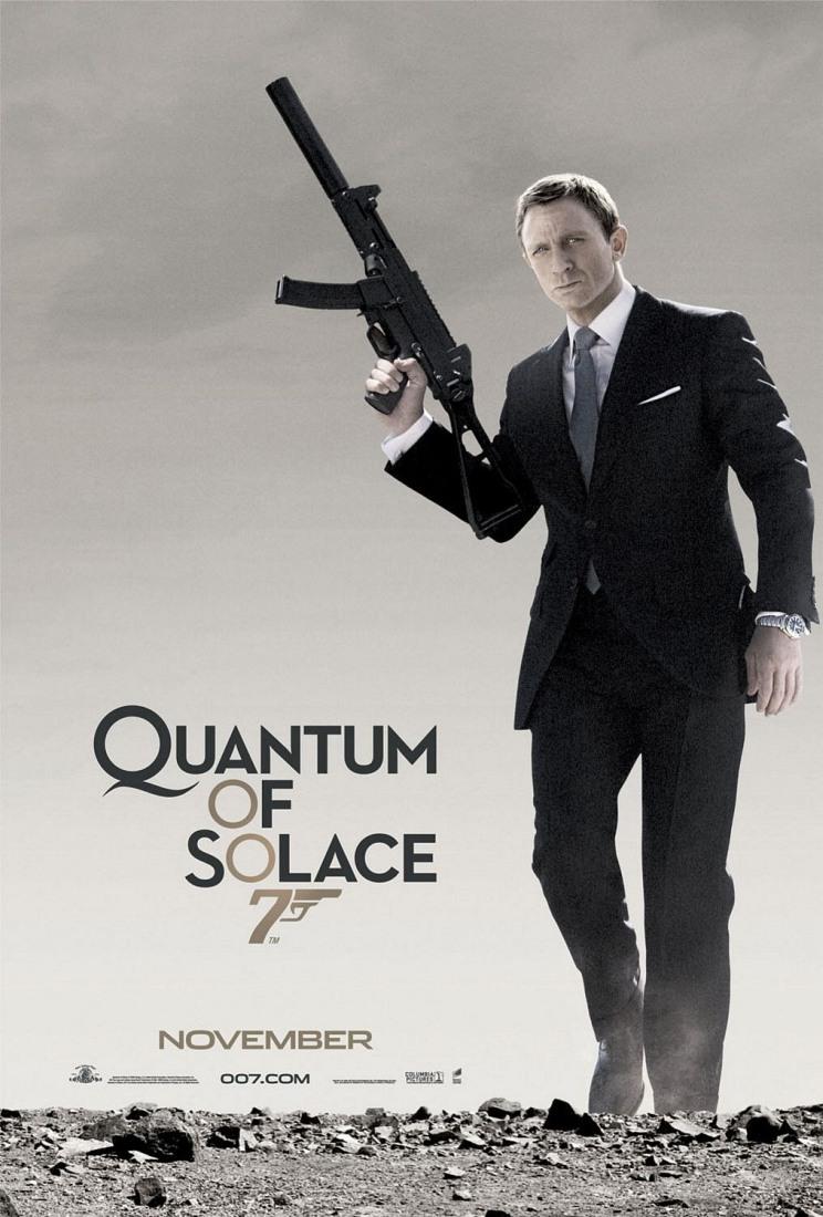 Quantum of solace james bond poster