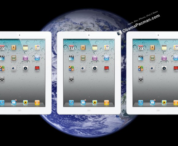 White iPad 2 International Launch earth globe
