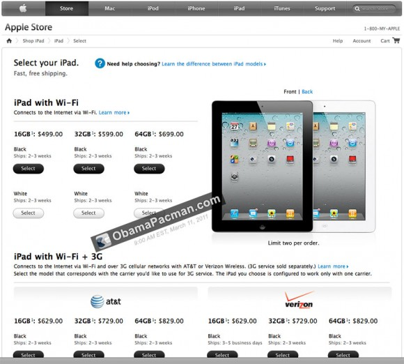 iPad 2 ships 2-3 weeks