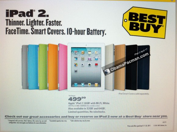Best Buy iPad 2, April 17 sunday flyer