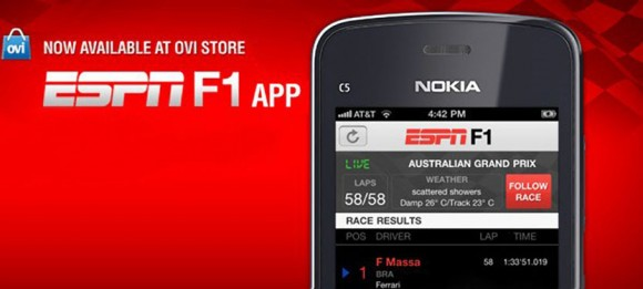 Nokia Ovi ESPN F1 App FAIL iPhone Photoshop