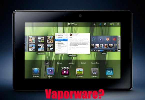 RIM BlackBerry Playbook Tablet Vaporware