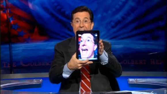 Stephen Colbert iPad 2 self portrait