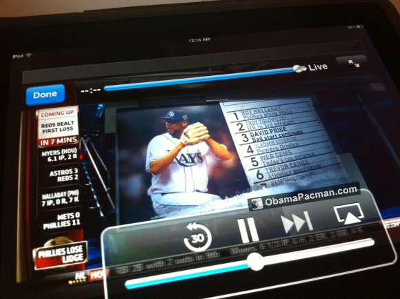 Watch ESPN iPad live video streaming app AirPlay
