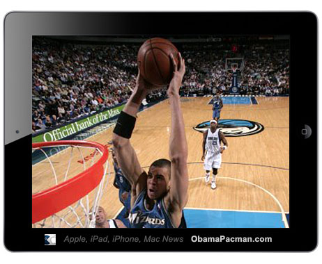 iPad 2 NBA Wizards Slam Dunk